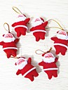 6pcs Crăciun Ornamente de crăciun, Decoratiuni de vacanta 10.0*10.0*3.0