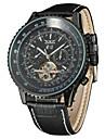 Jaragar 남성용 손목 시계 드레스 시계 패션 시계 캐쥬얼 시계 오토메틱 셀프-윈딩 달력 가죽 밴드 캐쥬얼 멋진
