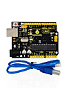 1Pcs Keyestudio UNO R3 Board(Original Chip) 1Pcs USB CableManual 100% Compatible for Arduino Uno R3