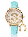 Women\'s Wrist Watch Quartz PU Band Analog Casual Fashion Black / White / Blue - Red Blue Light Blue