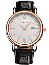 Men\'s Fashion Watch Wrist watch Chinese Quartz Calendar / date / day Leather Band Casual Minimalist Black Brown