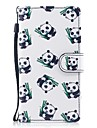 Case For Samsung Galaxy J5 (2017) J3 (2017) Card Holder Wallet with Stand Flip Pattern Full Body Cases Panda Hard PU Leather for J5