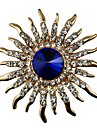 Women\'s Crystal Brooches - Crystal, Imitation Diamond Classic, Statement Brooch Gold For Gift / Daily