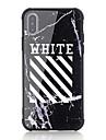 Кейс для Назначение Apple iPhone X iPhone 8 Защита от удара С узором Кейс на заднюю панель Слова / выражения Твердый Закаленное стекло для