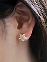 여성용 모조 큐빅 스터드 귀걸이 귀걸이 - 지르콘, 모조 큐빅, 모조 다이아몬드 별 숙녀, 패션, 신부 실버 / 골든 제품 결혼식 파티 일상