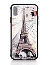 Carcasă Pro Apple iPhone X / iPhone 8 Nárazuvzdorné / Vzor Zadní kryt Slovo / citát / Vlajka / Eiffelova věž Pevné Tvrzené sklo pro iPhone X / iPhone 8 Plus / iPhone 8