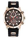 мужские кварцевые спортивные часы японский календарь / дата / день / хронограф / водостойкие / водонепроницаемые / серебристые / случайные часы