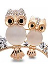 Women\'s Opal Brooches - Opal, Imitation Diamond Owl Ladies, Classic Brooch Jewelry Gold For Daily / Formal