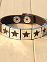 Men\'s Bracelet - Leather Star Gothic, Hip-Hop Bracelet Black / Coffee For Street / Going out