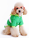 Dog Coat Dog Clothes Casual/Daily Stripe Blue Green Red Costume For Pets