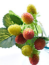 Artificial Flowers 1 Branch Pastoral Style Fruit Tabletop Flower