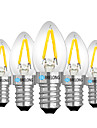 BRELONG® 5pcs 2W 120 lm E14 E12 LED Globe Bulbs 2 leds Warm White White Red AC 220V