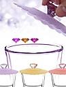 다이아몬드 손잡이 실리콘 누설 방지 멋진 컵 커버 (무작위 컬러)