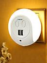BRELONG® 1pc Night Light LED Bianca capezzale Con porta USB