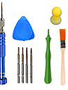 Cell Phone Repair Tools Kit 6 in 1 Brush Screwdriver Suction Cup Plastic/Stianless Steel Pry Replacement Tools Mobile Phone