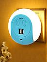 BRELONG® 1pc תקע בקיר Smart חיישן USB כפול US מטען לטלפון ליד המיטה בקרת אור