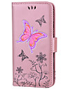Case For Touch 5 6  Card Holder Wallet with Stand Flip Full Body Butterfly Glitter Shine Hard PU Leather fou Touch 5 6