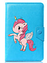 Case For Full Body Cases Tablet Cases Unicorn Cartoon Hard PU Leather for