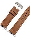 Urrem for Apple Watch Series 4/3/2/1 Apple Moderne spænde Ægte læder Håndledsrem