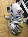 Dogs Vest Dog Clothes Casual/Daily Stripe Cartoon Blue White Costume For Pets