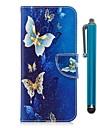 Huelle Fuer Samsung S9 S9 Plus Kreditkartenfaecher Geldbeutel mit Halterung Flipbare Huelle Magnetisch Ganzkoerper-Gehaeuse Schmetterling Hart