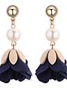 Women\'s Floral Imitation Pearl Drop Earrings - Floral Fashion Flower For Daily
