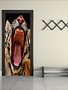Животные Наклейки Простые наклейки 3D наклейки Декоративные наклейки на стены Напольные наклейки, Винил Украшение дома Наклейка на стену