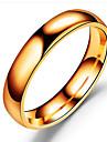 Heren Bandring - Roestvast staal Klassiek Sieraden Zwart / Zilver / Goud Rose Voor Bruiloft Verjaardag Dagelijks Maskerade Verlovingsfeest Schoolfeest 6 / 7 / 8 / 9