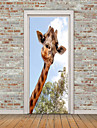 경치 동물 벽 스티커 플레인 월스티커 3D 월 스티커 데코레이티브 월 스티커 도어 스티커, 비닐 홈 장식 벽 데칼 유리 / 욕실 벽