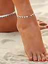 Bohemian , Anklet - Women\'s Gold Silver Bohemian Fashion Geometric Alloy Anklet For Bikini Going out