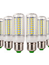 7 W Ampoules Mais LED 600-700 lm E14 E26 / E27 72 Perles LED SMD 5730 Decorative Blanc Chaud Blanc Froid 220-240 V, 6pcs
