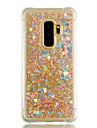 Huelle Fuer Samsung Galaxy S9 Plus / S9 Stossresistent / Mit Fluessigkeit befuellt / Glaenzender Schein Rueckseite Herz / Glaenzender Schein Weich TPU fuer S9 / S9 Plus / S8 Plus