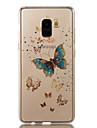 غطاء من أجل Samsung Galaxy A8 Plus 2018 / A8 2018 IMD / نموذج غطاء خلفي فراشة / بريق لماع ناعم TPU إلى A3 (2017) / A5 (2017) / A8 2018