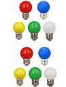 10pcs 1W 100 lm E26/E27 LED Globe Bulbs G45 8 leds SMD 2835 Decorative White Green Yellow Blue Red 220-240V