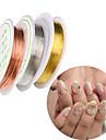 5 pcs مجوهرات الأظافر أدوات طلاء الأظافر قابل للتعديل فن الأظافر تجميل الأظافر والقدمين يوميا ميتاليك / مجوهلرات الأظافر