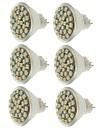 SENCART 6kom 2W 140-180lm MR11 LED reflektori MR11 30 LED zrnca SMD 3528 Ukrasno Toplo bijelo / Hladno bijelo / Žuto 12V