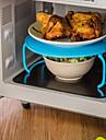 Пластик Портативные Heatproof Для микроволновой печи Для приготовления пищи Посуда Многофункциональный Кронштейн, 1шт