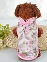 كلاب قطط المعاطف ملابس الكلاب مطرز أخضر زهري حرير كوستيوم للحيوانات الأليفة انثى أنيق عرقي
