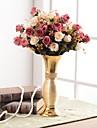 زهور اصطناعية 0 فرع ترف أوروبي المزهرية أزهار الطاولة / واحدة زهرية