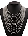 Tassel Layered Necklace - Stainless Fashion, Oversized Gold, Black, Silver 36 cm Necklace Jewelry For Club, Bar