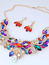Women\'s Jewelry Set - Resin Flower European, Fashion, Statement Include Stud Earrings / Statement Necklace Purple / Red / Blue For Wedding / Party