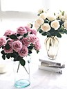 Artificial Flowers 1 Branch Wedding Flowers / Pastoral Style Roses Tabletop Flower