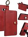 케이스 제품 Samsung Galaxy S8 Plus S8 카드 홀더 지갑 링 홀더 플립 마그네틱 전체 바디 케이스 솔리드 하드 진짜 가죽 용 S8 Plus S8