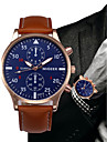 Men\'s Dress Watch Chinese Chronograph Leather Band Fashion / Minimalist Black / Blue / Brown / SSUO LR626