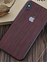 1개 스킨 스티커 용 iPhone X 스크래치 방지 나무결 패턴 PVC 아이폰 엑스