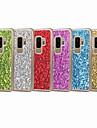 Etui Til Samsung Galaxy S9 Plus / S9 Glitter Bakdeksel Skinne Hard PC til S9 / S9 Plus / S8 Plus