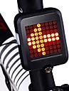 LED اضواء الدراجة ضوء الدراجة الخلفي أضواء السلامة أضواء الذيل ركوب الدراجة ضد الماء محمول قابل للطي Li-ion 200 lm أحمر أخضر