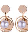 Női Üreg Beszúrós fülbevalók - Gyöngyutánzat Stílusos, Egyszerű, Európai Arany Kompatibilitás Hétköznapi Napi
