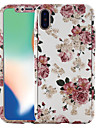 Etui Til Apple iPhone X / iPhone 8 Mønster Fuldt etui Blomst Hårdt PC for iPhone X / iPhone 8 Plus / iPhone 8