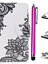 غطاء من أجل Samsung Galaxy J3 (2017) محفظة / حامل البطاقات / مع حامل غطاء كامل للجسم الطباعة الدانتيل قاسي جلد PU إلى J3 (2017)